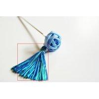絹タッセルかんざし 絹糸追加