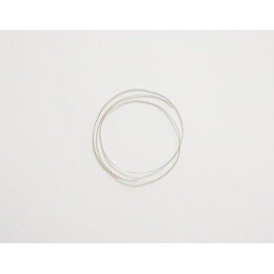 画像1: 銀の紐(細)50 cm