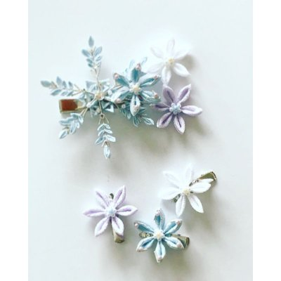 画像1: 氷の花雪の花(クリップ髪飾り)★★★